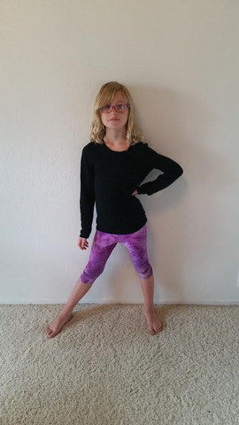 Purple Tie Dye Pants Girls spandex capri legging