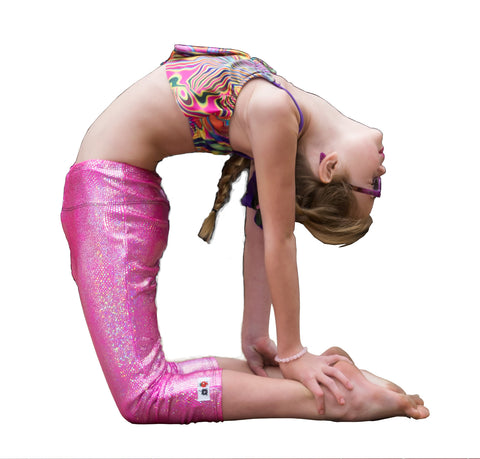 Legging for Girls in Pink Beachball print Sparkle like a Diamond in the Sky - Yoga Leggings