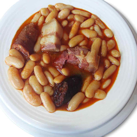 Fabada Asturiana (asturian bean stew). Ready to eat!