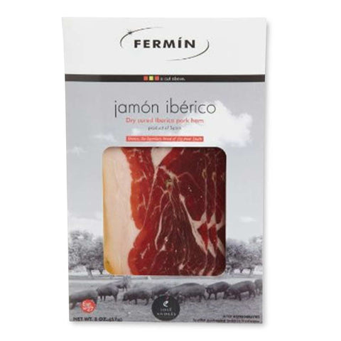 Sliced Jamón Iberico de bellota by Fermin
