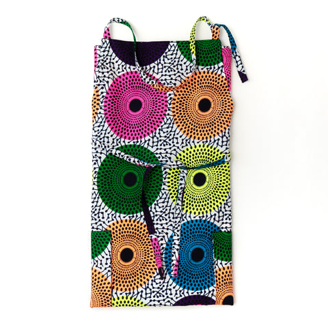 City lights African wax print apron