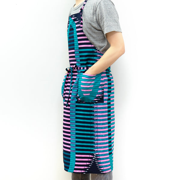 Pencil African wax print apron