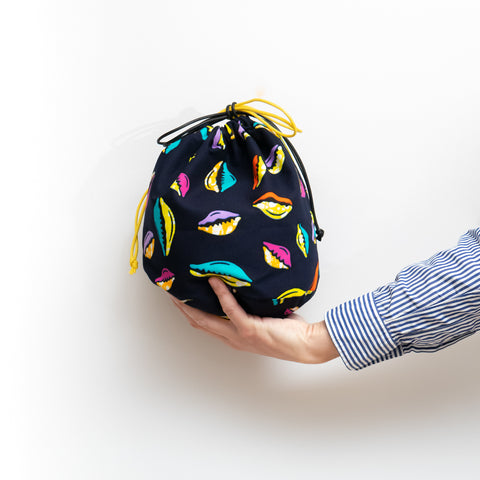 Shell Party African Wax Print Bucket Bag