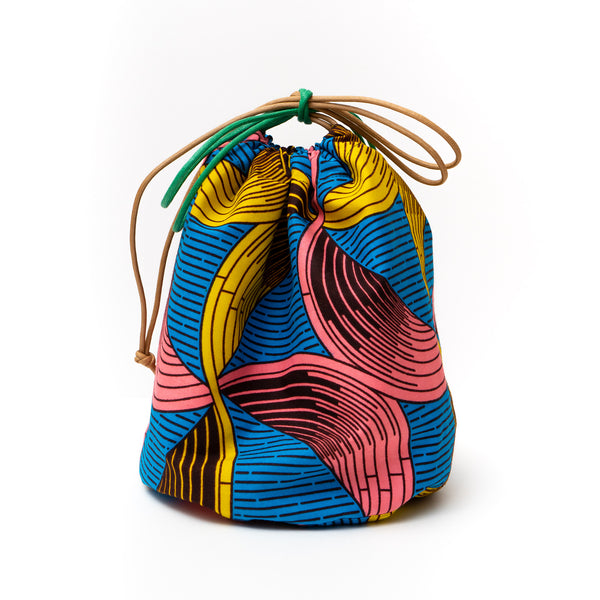 Boomerang African Wax Print Bucket Bag