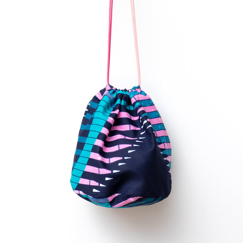 Pencil African Wax Print Bucket Bag