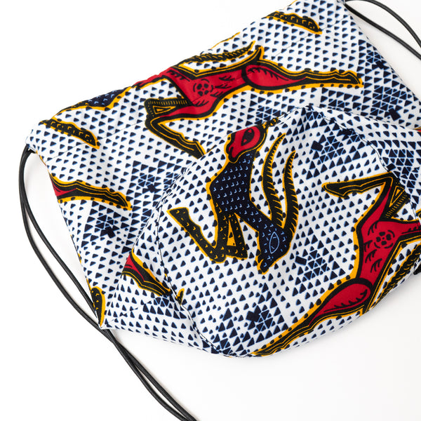 Forest African Wax Print Bucket Bag