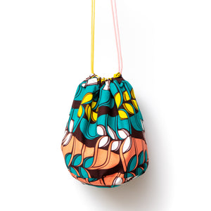 Jungle Song African Wax Print Bucket Bag