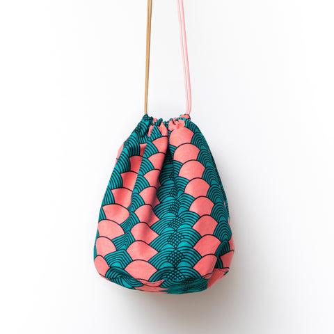 Pinki African Wax Print Bucket Bag