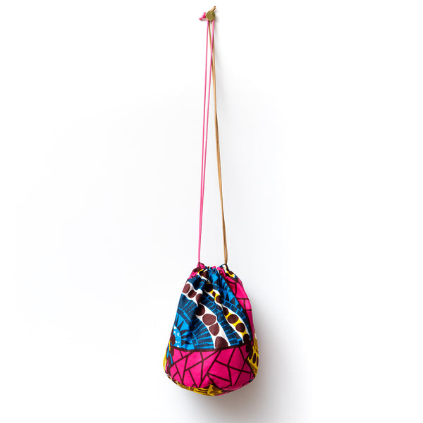 Pool Time African Wax Print Bucket Bag