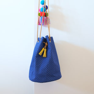 Dots & Dots Shweshwe Bucket Bag