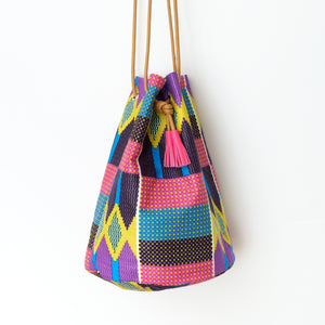 1995 Wax Print Bucket Bag