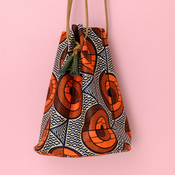 1989 Wax Print Bucket Bag