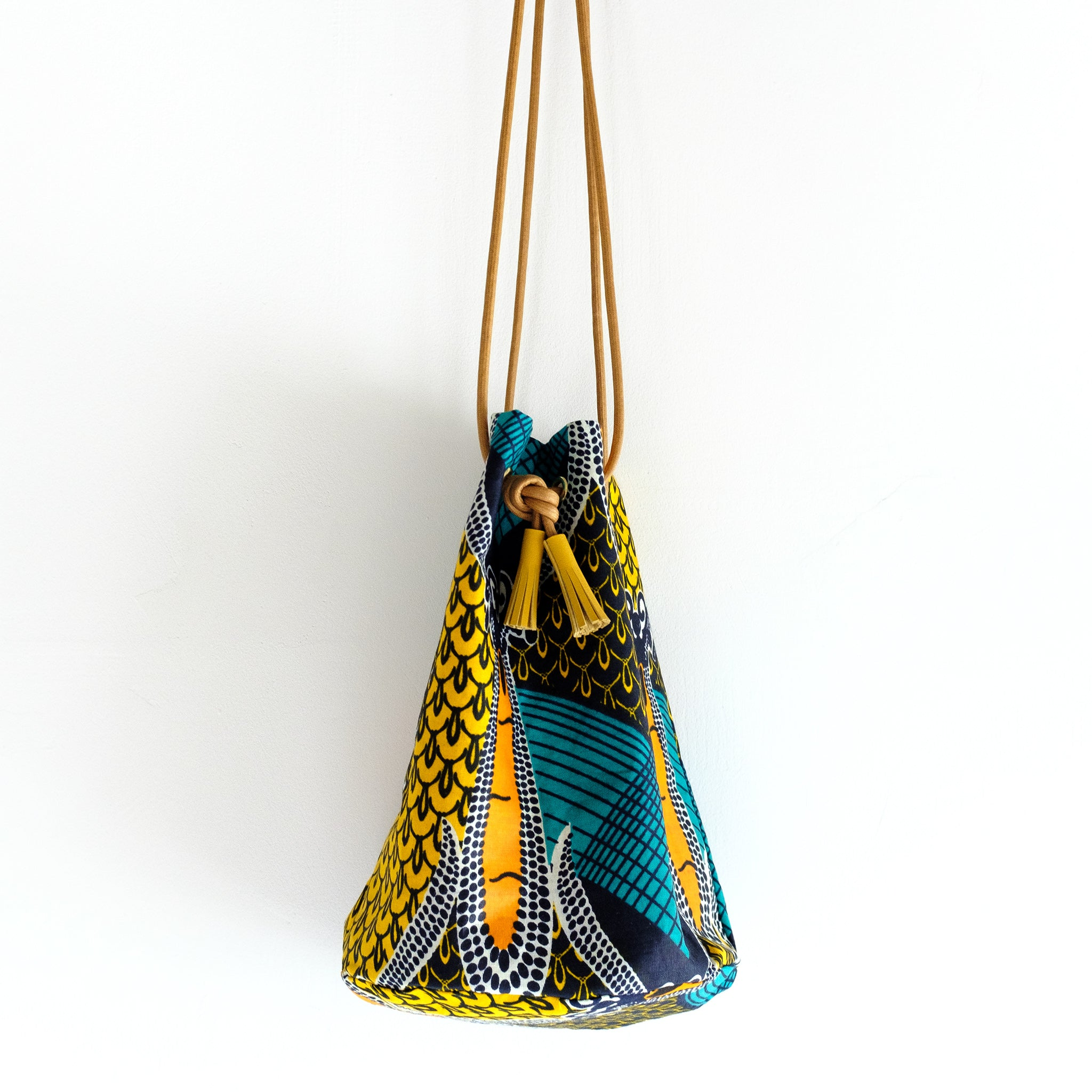 Tropical Sunset Wax Print Bucket Bag
