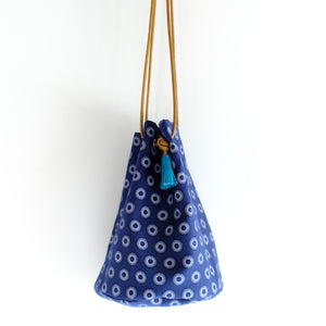 Indigo Dot Shweshwe Bucket Bag