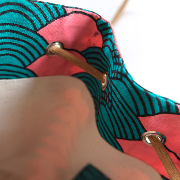 Pinki African Wax Bucket Bag