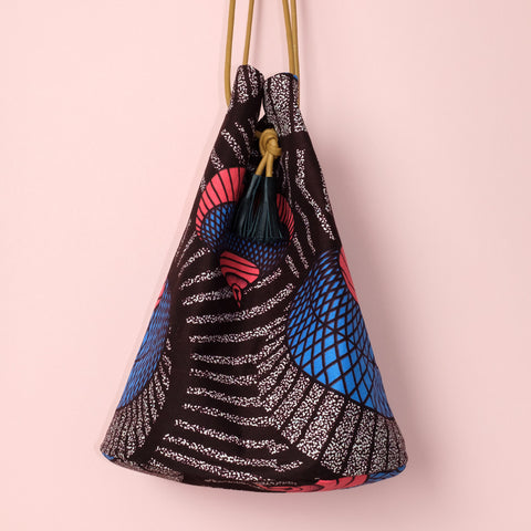Sotho Hat Wax Print Bucket Bag