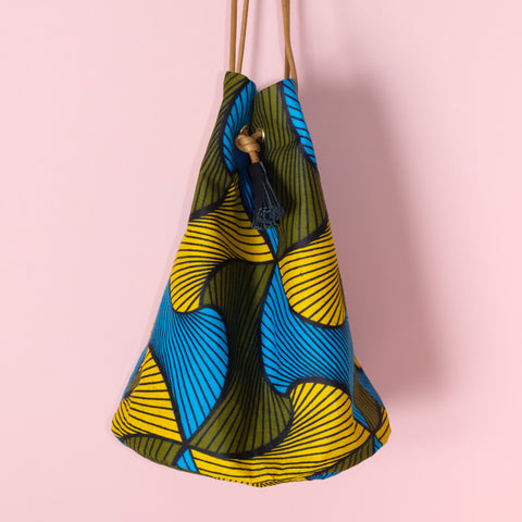 Mellows Wax Print Bucket Bag