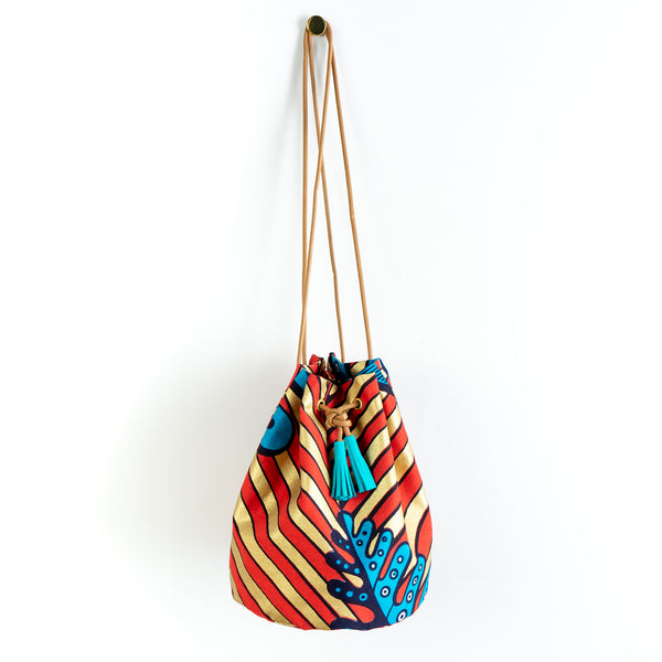 Blossoming Beans Dutch Wax Bucket Bag