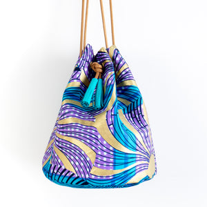 Morning Swim Dutch Wax Bucket Bag