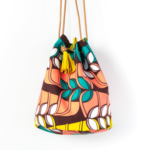 Jungle Song African Wax Bucket Bag