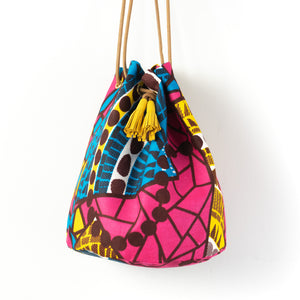 Pool time African Wax Bucket Bag