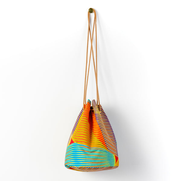 Colour Brush African Wax Bucket Bag
