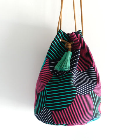Likoloto African Wax Bucket Bag
