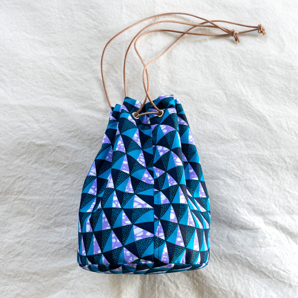 Ocean Winds African Wax Print Bucket Bag