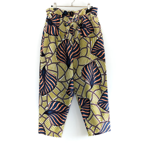 Feather Fan Dutch Wax Print Balloon Pants