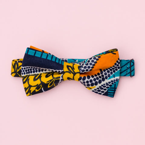 Tropical Sunset Wax Print Bow Tie