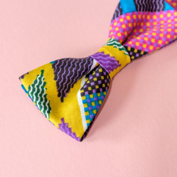 1995 African Wax Print Bow Tie