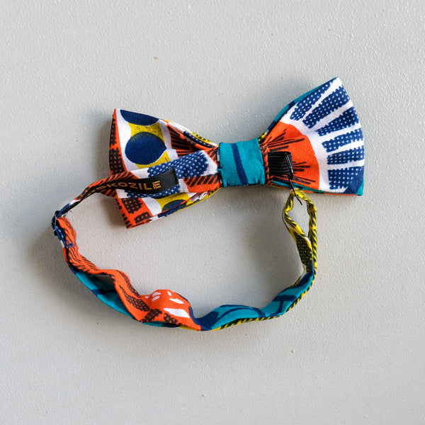 Pool Side Wax Print Bow Tie 蝶ネクタイ