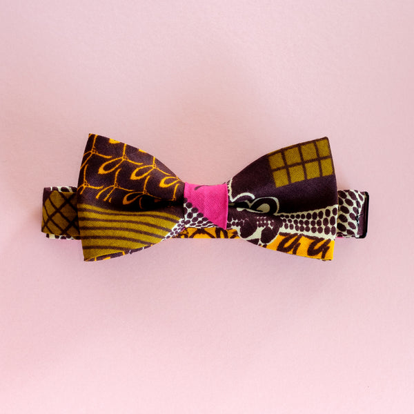 Pink Sunrise Wax Print African Bow Tie