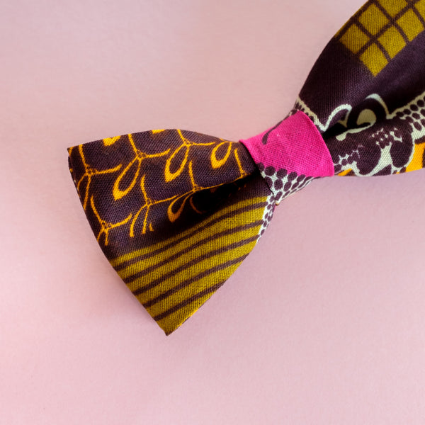 Pink Sunrise Wax Print Bow Tie
