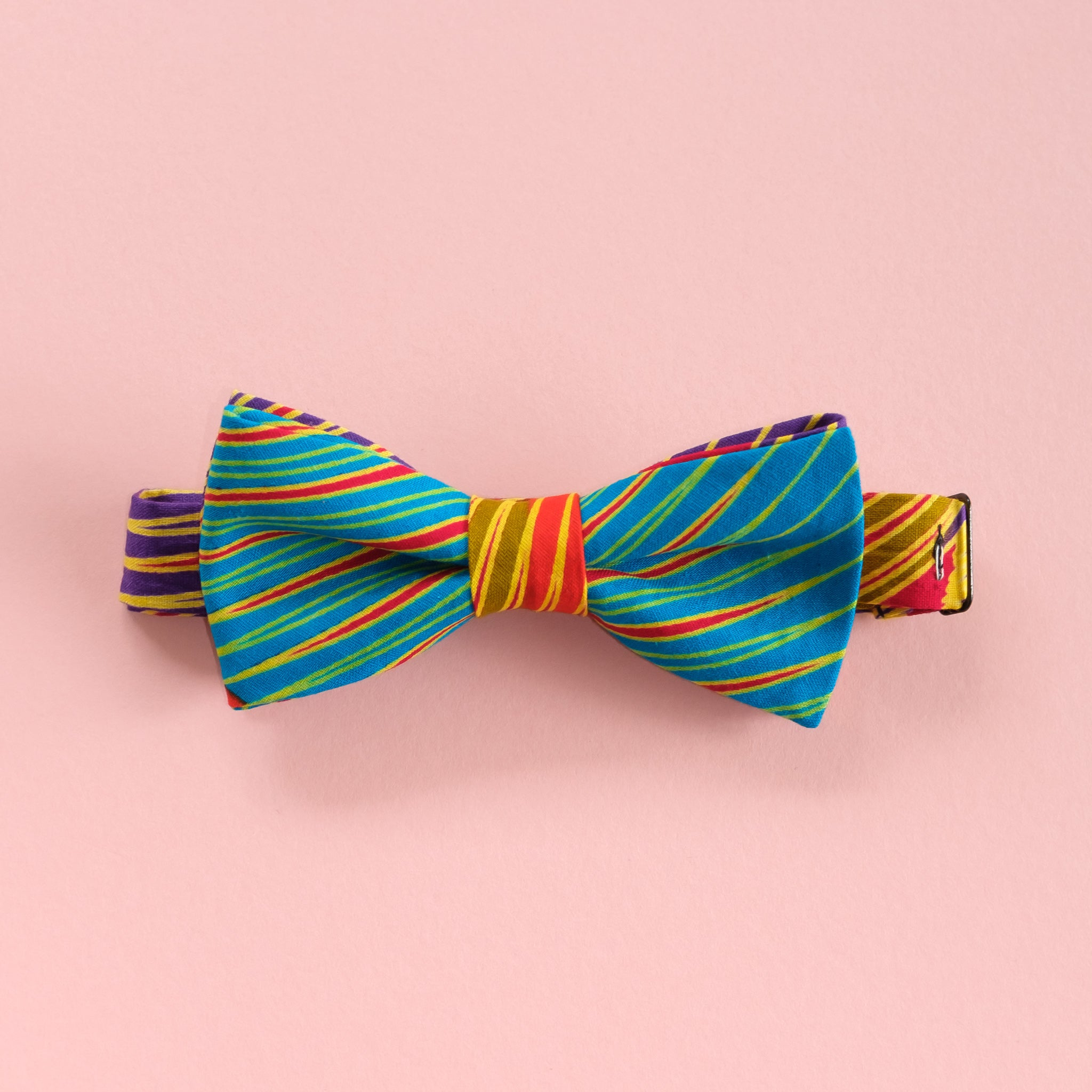 Colour Brush Stroke Wax Print African Bow Tie