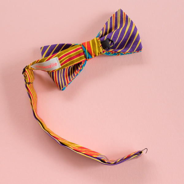 Colour Brush African Stroke Wax Print Bow Tie