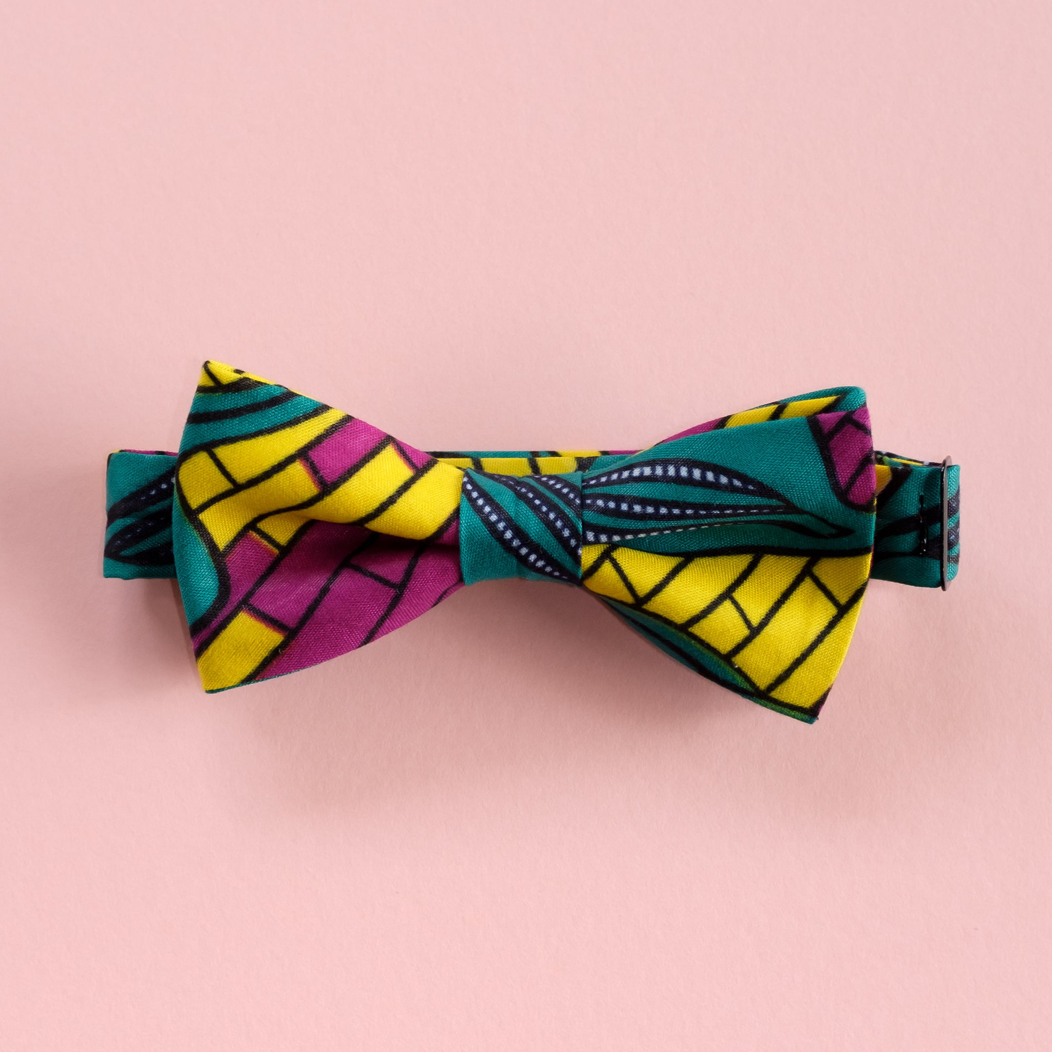 City Jungle Wax Print African Bow Tie
