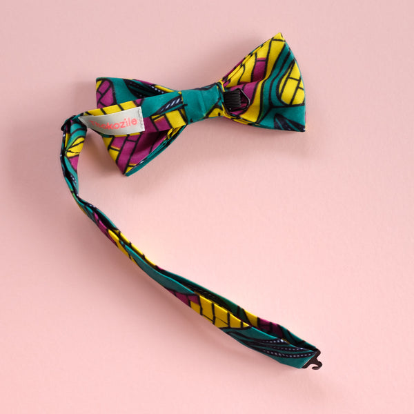 City Jungle African Wax Print Bow Tie