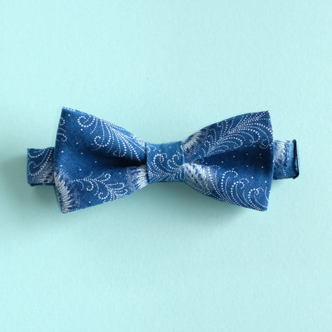 Indigo Feather Shweshwe African Bow Tie