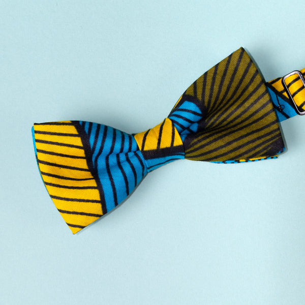 Mellows African Wax Print Bow Tie