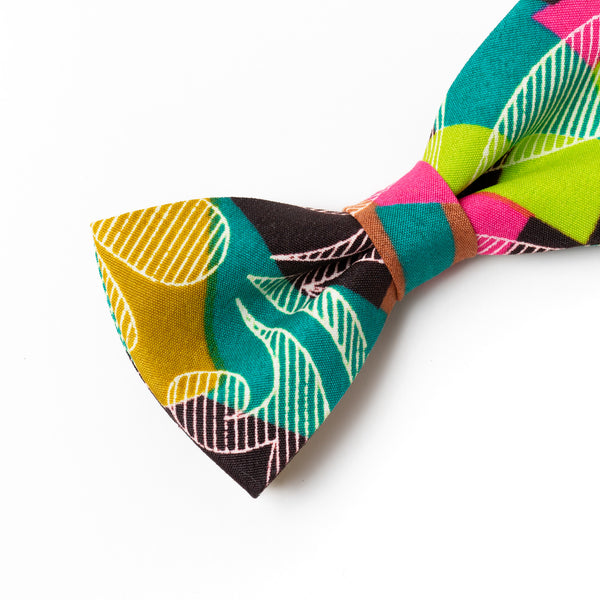 Colour Etching African Wax Print Bow Tie