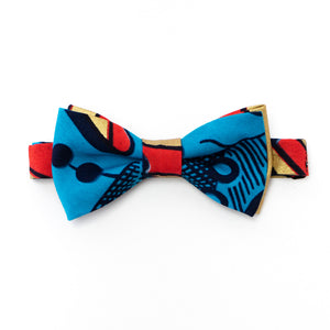 Blossoming Beans Dutch Wax Print Bow Tie