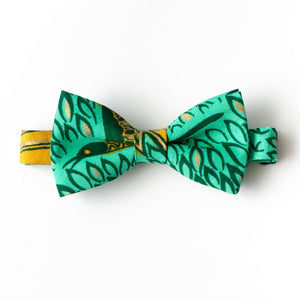 Spring Bird Dutch Wax Print Bow Tie
