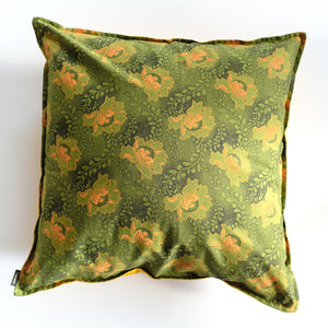 Green Flower Shweshwe Cushion Cover