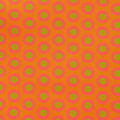 Shweshwe Fabric Orange Dots