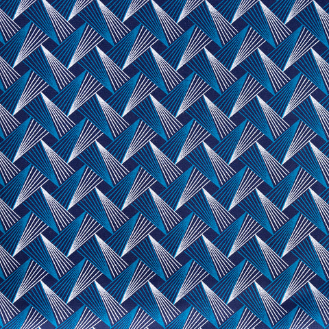 Shweshwe Fabric Blue Geometric