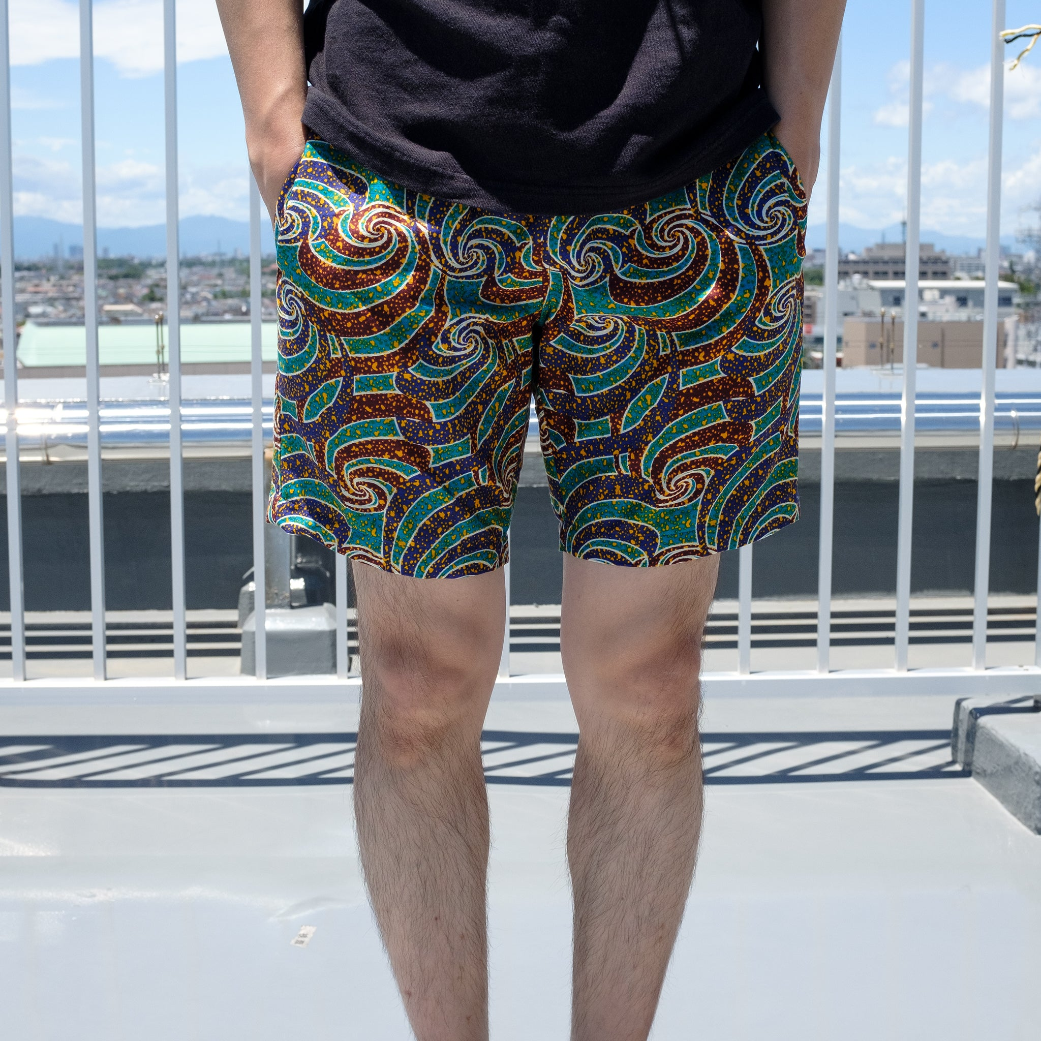 Astral Traveling Wax Print Shorts