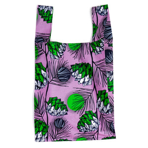 Princess Pine Cones African Wax Print Pocketable Shopping bag