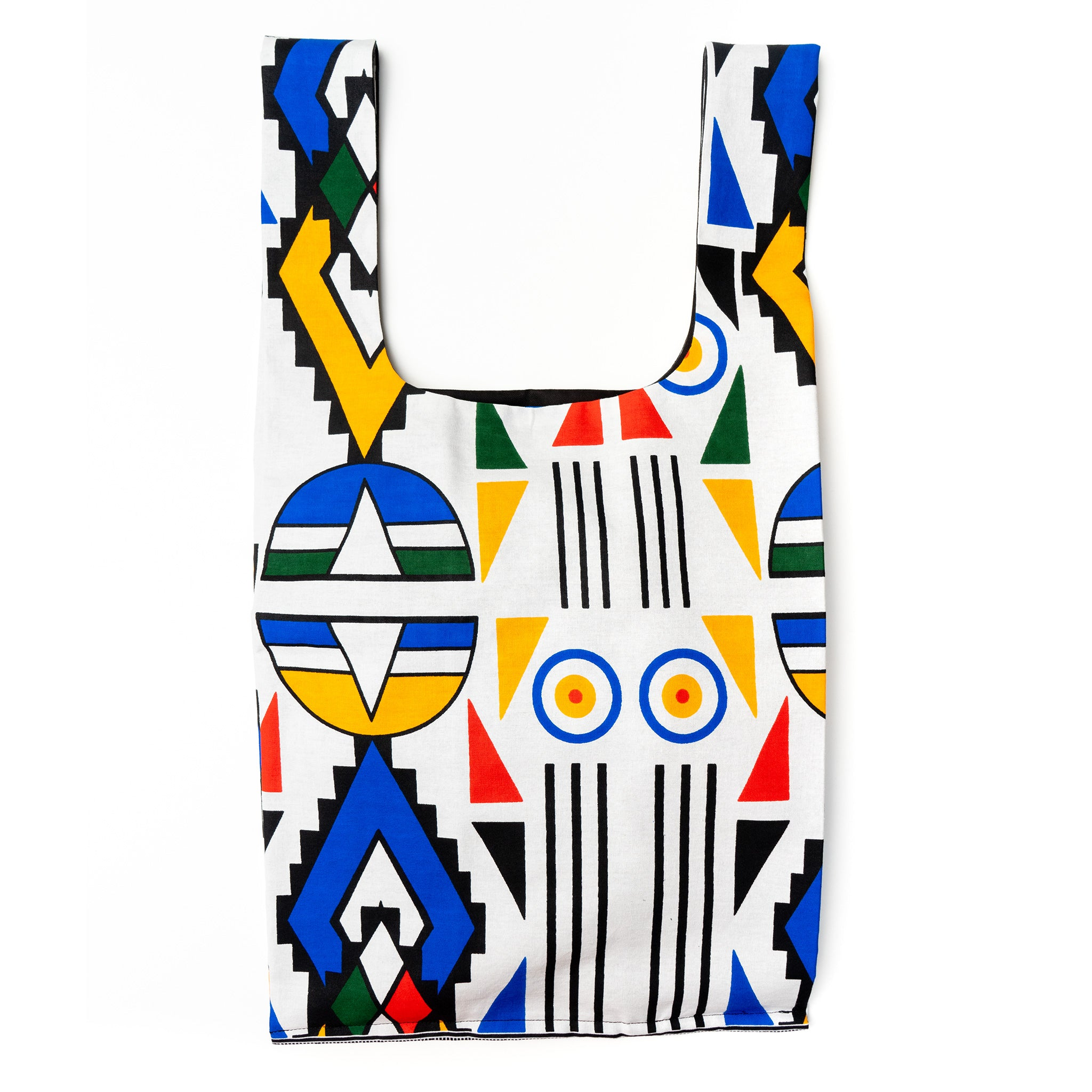 Ndebele Plus African Wax Eco Shopping bag