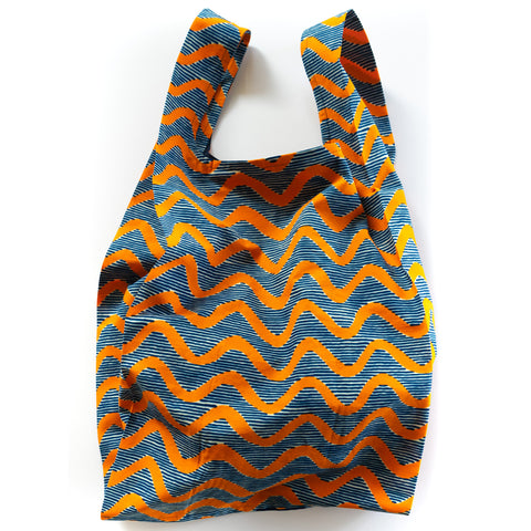 Wavy African Wax Print Pocketable Bag Lsize